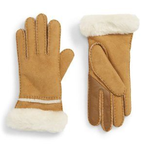 UGG Seamed Touch Tech Compatible Shearling Gloves